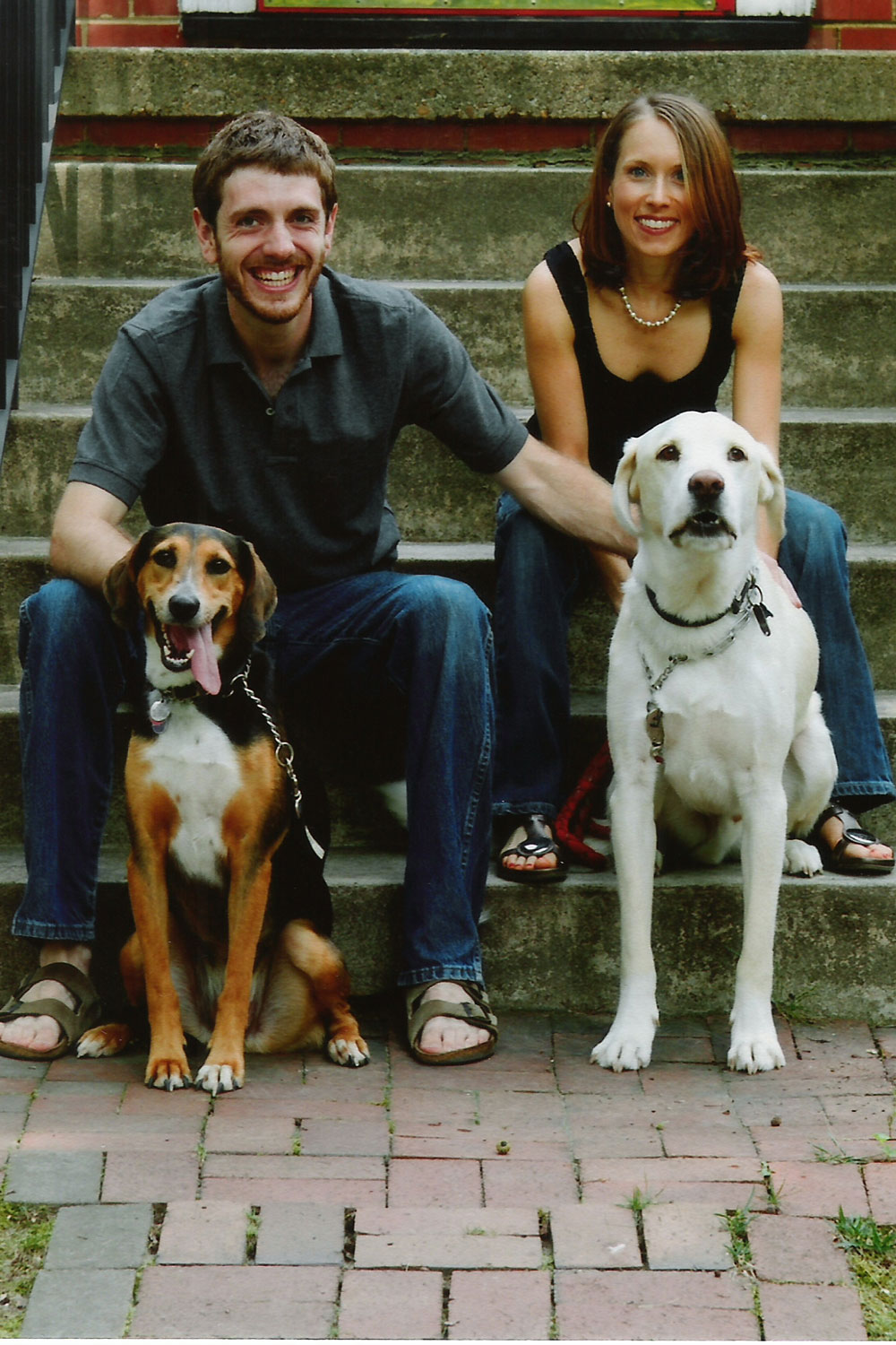 Jenny and Jon Murray with their dogs